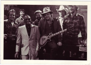 "Dave with Ray Charles between takes while filming Ray's  ""3/4 Time"" video."